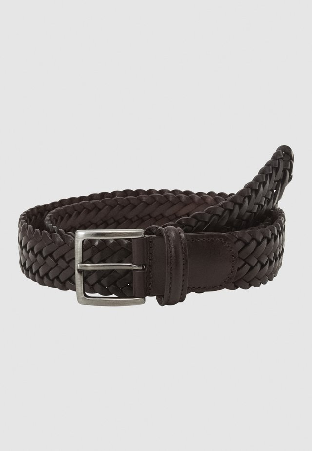 BELT UNISEX - Palmikkovyö - dark brown