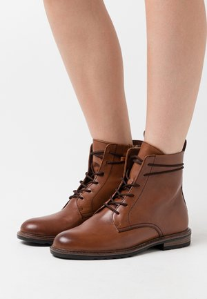 BOOTS - Lace-up ankle boots - mahogany