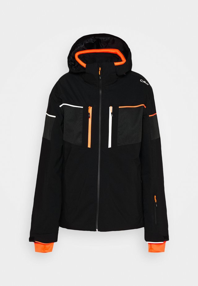 MAN JACKET ZIP HOOD - Laskettelutakki - nero