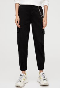 PULL&BEAR - CARGO - Trousers - black - 0