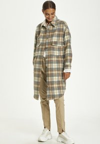 Cream - TARACR OZ SHIRT - Classic coat - feather gray check - 0