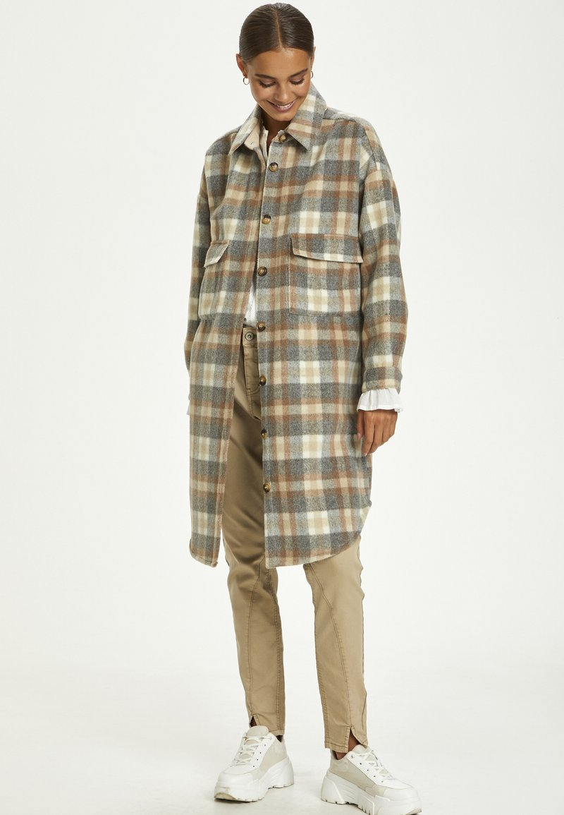 Cream - TARACR OZ SHIRT - Classic coat - feather gray check
