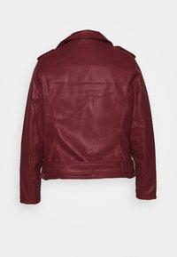Glamorous Curve - JACKET - Faux leather jacket - burgundy - 1