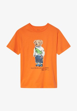 Print T-shirt - bright signal orange