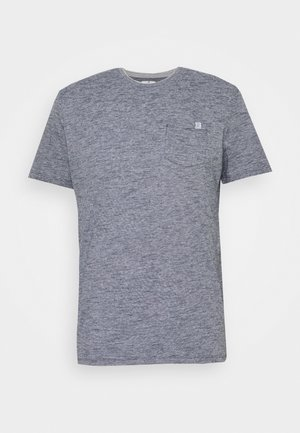 FINELINER WITH POCKET - Print T-shirt - dark blue stripe