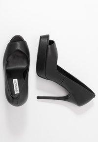 Even&Odd - LEATHER - Høye hæler med åpen front - black - 3