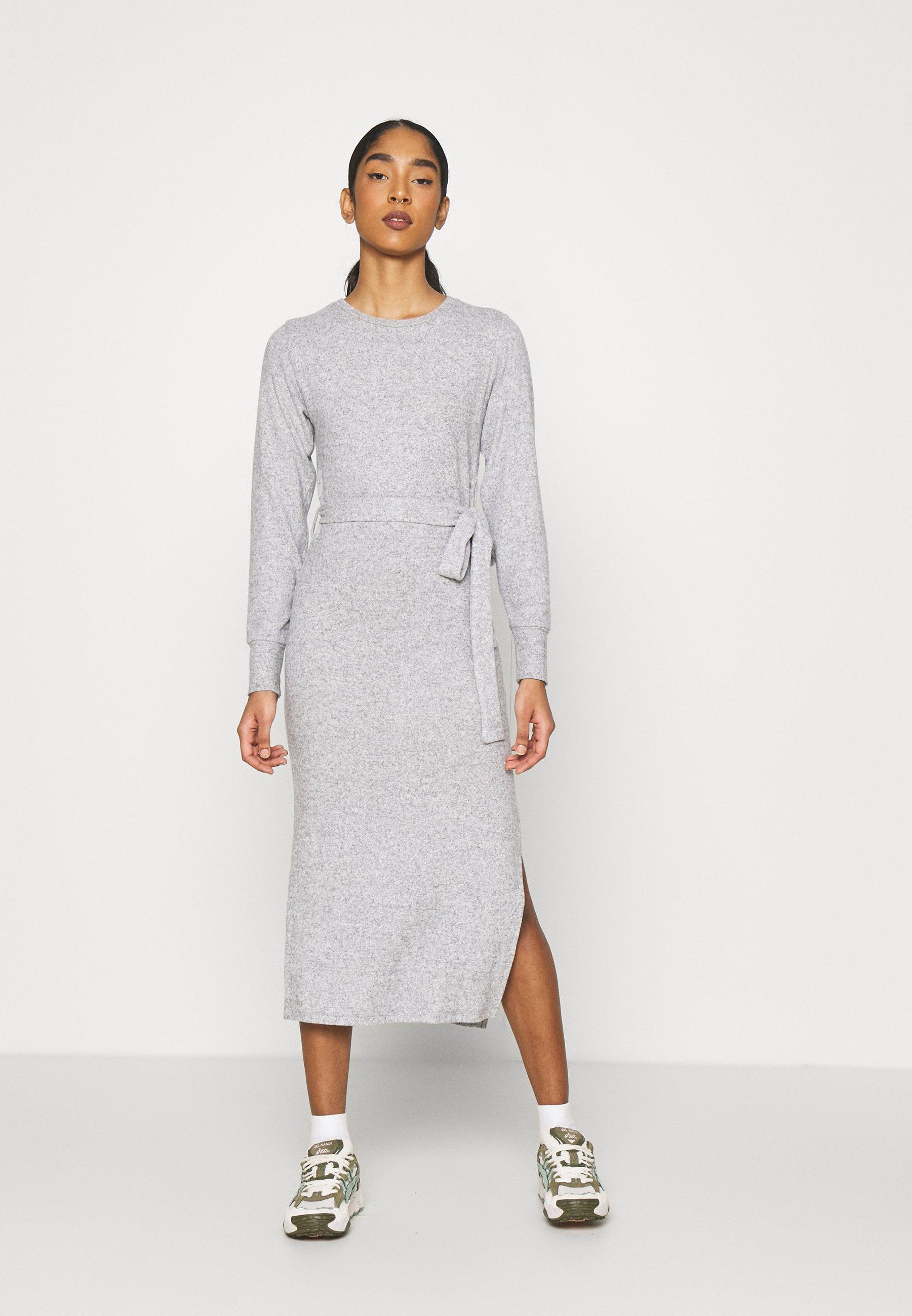 Women CUT AND SEW BELT MIDI - Jersey dress