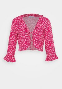 NA-KD - PAMELA REIF X NA-KD FRILL DETAIL TIE  - Blouse - pink - 4