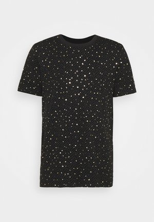 FARROW - Printtipaita - black/gold