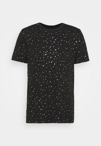 FARROW - Print T-shirt - black/gold