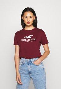 Hollister Co. - TIMELESS LOGO - Print T-shirt - burgundy - 0