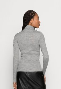 Selected Femme - SLFCOSTINA ROLLNECK - Jumper - light grey melange - 2