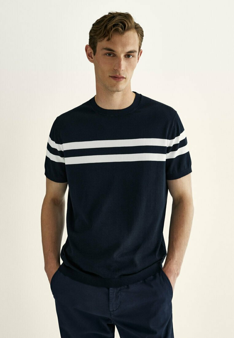 Massimo Dutti - Print T-shirt - blue
