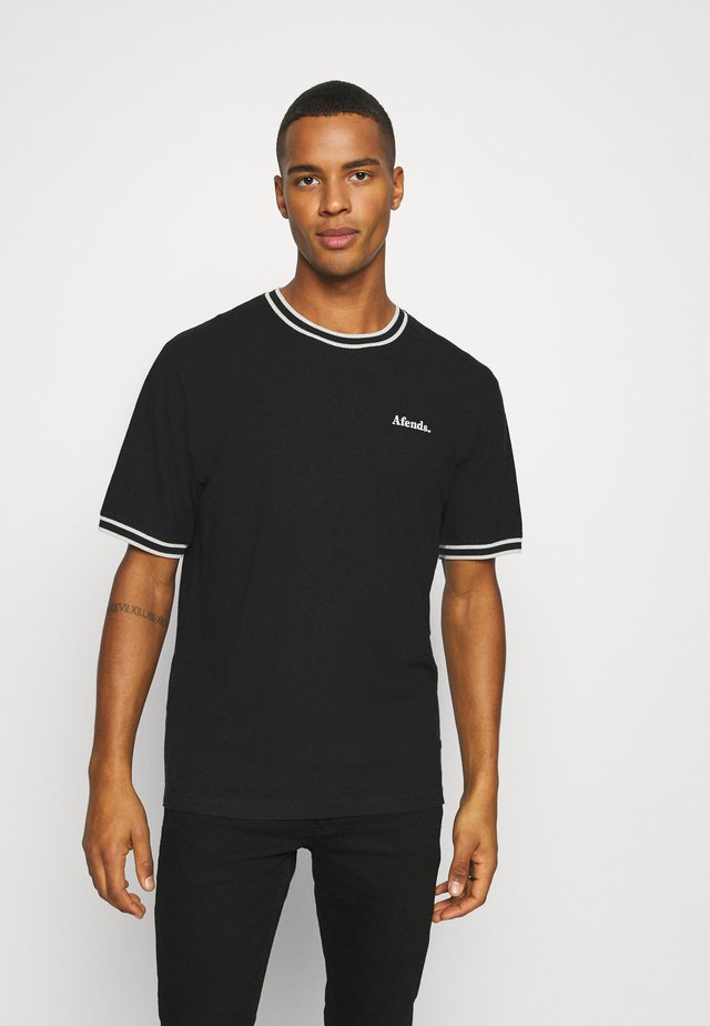 TIMEBOMB RETRO FIT RINGER TEE - T-shirt basic - black