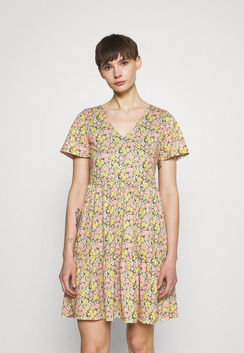 Vila - VINATALIE SHORT DRESS - Jersey dress - dark olive