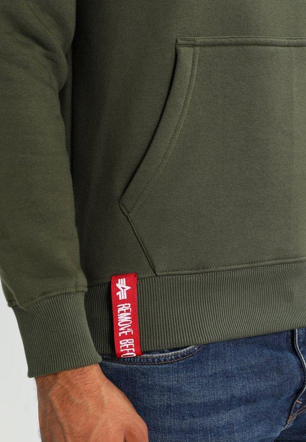 Alpha Industries Bluza z kapturem - dark green/ciemnozielony Odzież Męska CLRX