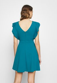 WAL G. - RUFFLE SLEEVE MINI DRESS - Cocktail dress / Party dress - teal - 2