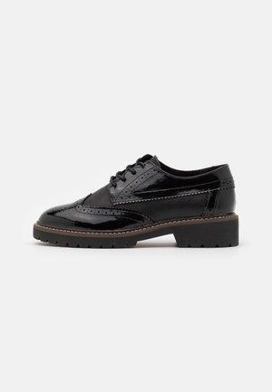 LACE UP - Šněrovací boty - black
