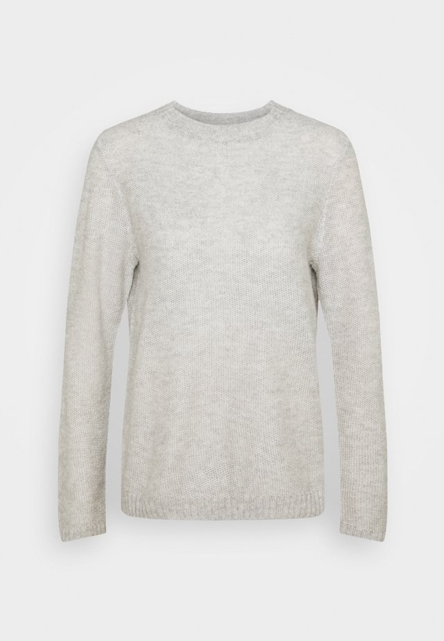 LIGHT CREW NECK JUMPER - Jumper - soft silver grey melange