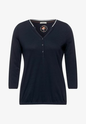 MIT RIPPKRAGEN - Maglietta a manica lunga - blau