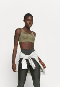 adidas Performance - ALPHA BRA - High support sports bra - olive - 3