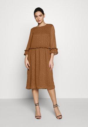 COSTA PRINT DRESS - Day dress - brown stroke