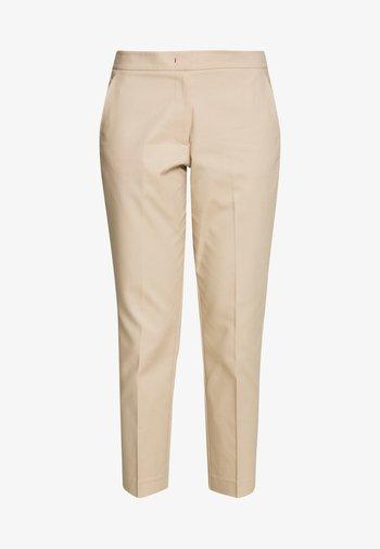 SLUB ANKLE PANT - Trousers - sahara tan