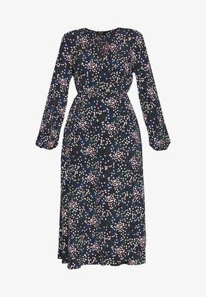 CONFETTI WATERFALL WRAP - Denní šaty - black