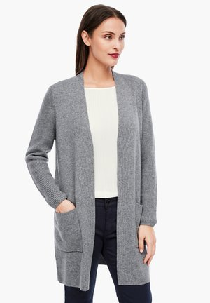 LANGARM - Cardigan - light grey melange