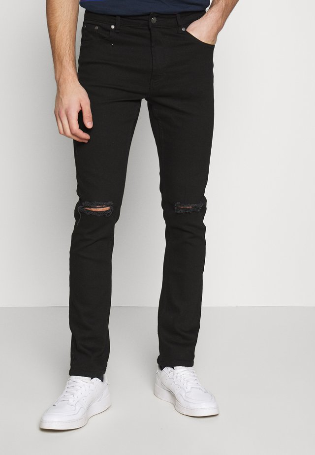 KNEEHOLE - Jeansy Skinny Fit - black