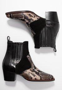 Maripé - Cowboy/biker ankle boot - nero - 3
