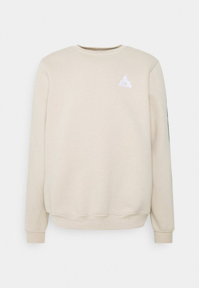 COLORBLOCK CREWNECK - Sweatshirt - beige