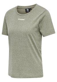 Hummel - Basic T-shirt - vetiver melange - 5
