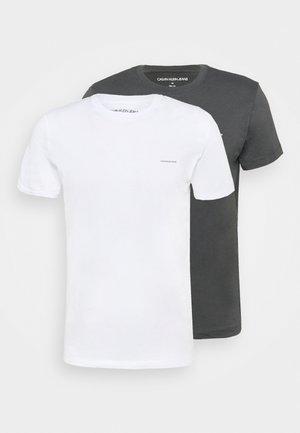 SLIM 2 PACK - T-shirt - bas - gray pinstripe/bright white