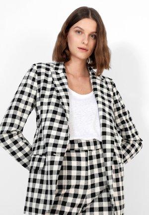 Short coat - black/ecru