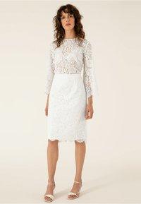 IVY & OAK BRIDAL - Pencil skirt - snow white - 1