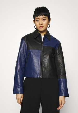 VEIRI - Leather jacket - deep well