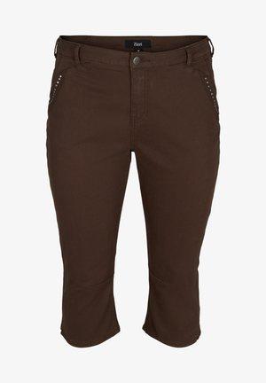 Denim shorts - dark brown