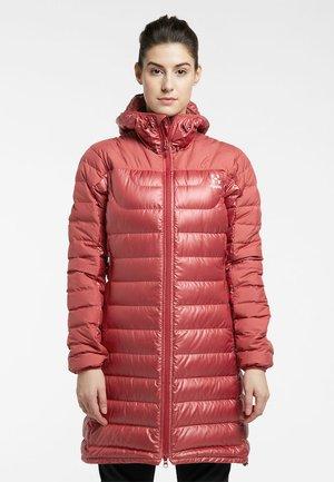 Down coat - brick red