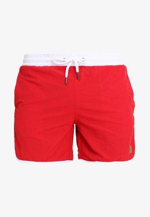 RETRO - Shorts da mare - firered/white