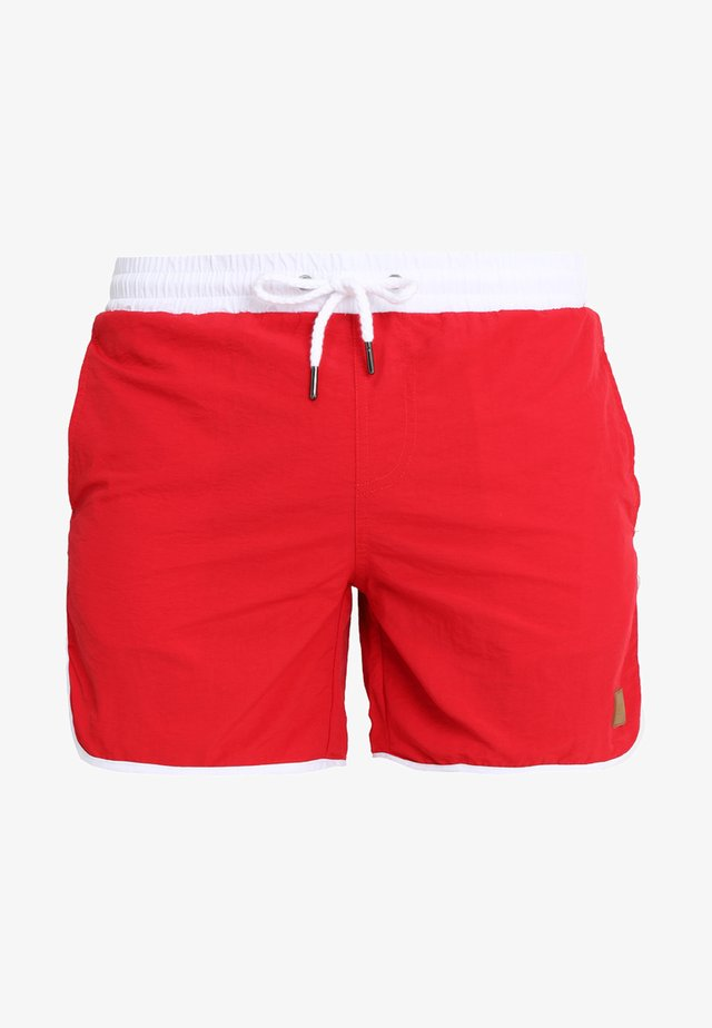 RETRO - Badeshorts - firered/white