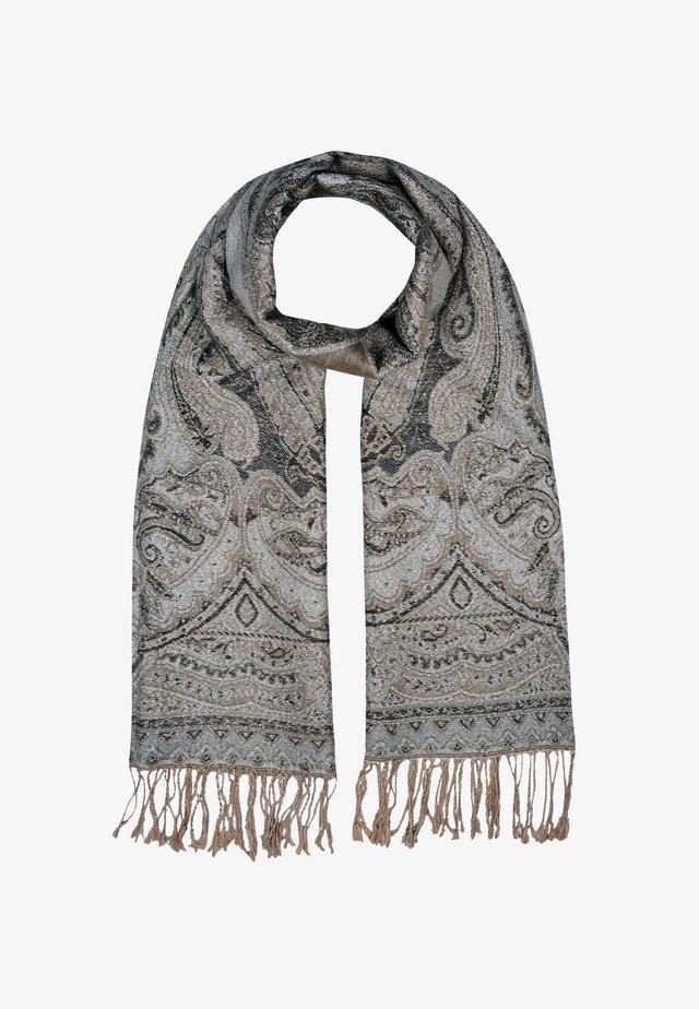 Sjaal - mehrfarbig gem. foto mit braun & beige & grau
