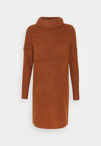 ONLY - ONLJANA COWLNECK DRESS  - Pletené šaty - ginger bread melange - 4