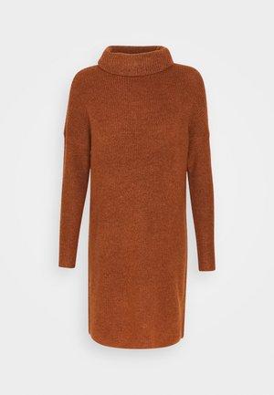 ONLJANA COWLNECK DRESS  - Strikket kjole - ginger bread melange