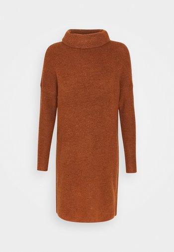ONLJANA L/S COWLNECK  - Jumper dress - ginger bread melange