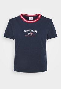 Tommy Jeans - REGULAR TIMELESS SCRIPT TEE - Print T-shirt - twilight navy - 3
