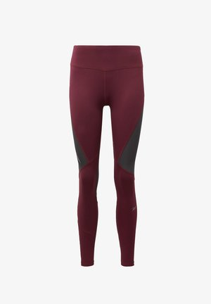 ONE SERIES RUNNING VECTOR LEGGINGS - Leggings - burgundy
