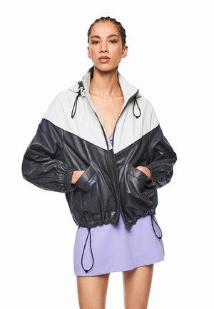 DUA LIPA X PEPE JEANS - Leather jacket - charcoal