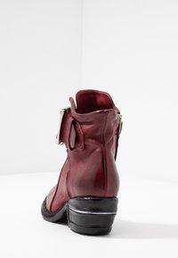 A.S.98 - Cowboy/biker ankle boot - cardinal - 5