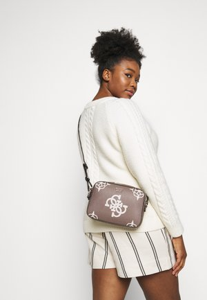 KAMRYN CROSSBODY TOP ZIP - Across body bag - taupe/multi